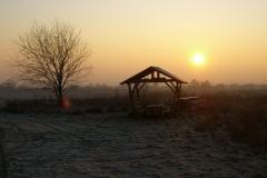 Sonnenuntergang auf der Kühlung