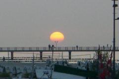 Sonnenuntergang über der Seebrücke